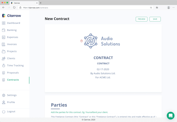 Contract template for freelancers