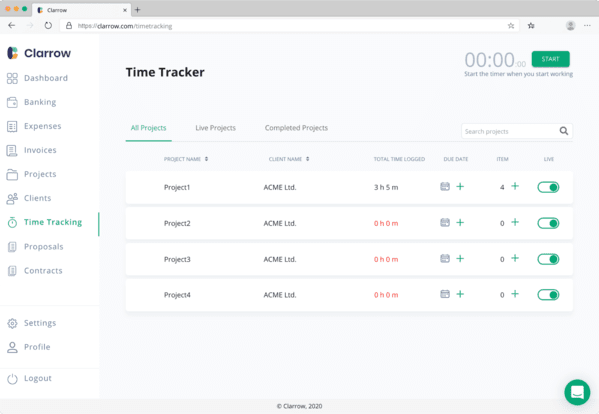 Time management app for frelancers